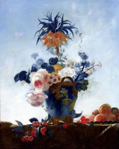 Vase with Flowers by French School