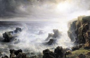 Storm off the Coast of Belle-Ile by Jean Antoine Theodore Gudin