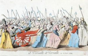 March of the Women on Versailles Paris 1789 by French School
