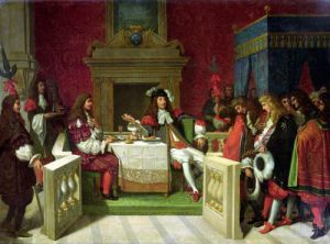 Moliere Dining with Louis XIV 1857 by Jean-Auguste-Dominique Ingres