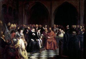 The Colloquy of Poissy 1840 by Joseph-Nicolas Robert-Fleury