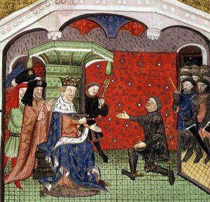 Bertrand du Guesclin before Charles V and his Court by French School