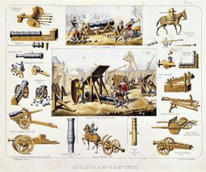 French artillery by Johannes Moltzheim