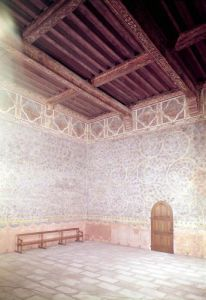 Interior view of the Pope's bedroom c.1334 by French School