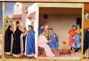 The Coronation of the Virgin c.1430 by Attributed to Fra Angelico