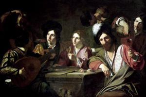 Meeting of Drinkers by Bartolomeo Manfredi