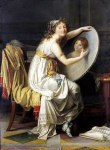 Portrait of Rose Adelaide Ducreux by Jacques-Louis David