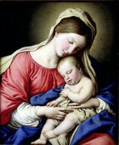 Virgin and Child by Sassoferrato (Giovanni Battista Salvi)