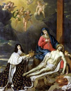 The Vow of Louis XIII King of France and Navarre 1638 by Philippe de Champaigne