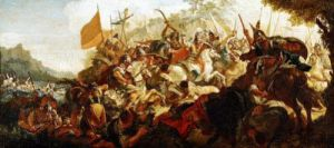 The Battle of the Granicus by Francesco Fontebasso
