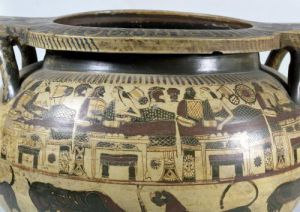 Detail of the 'Krater of Eurytios' depicting the Banquet with Heracles and Eurytios by Greece