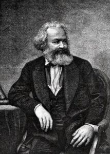 Portrait of Karl Marx 1857 by French School