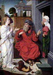 Abraham Sara and an Angel c.1520 by Jan Provost II