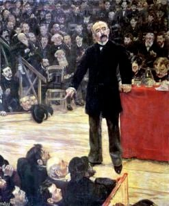 Georges Clemenceau Speech at the Cirque Fernando 1883 by Jean Francois Raffaelli
