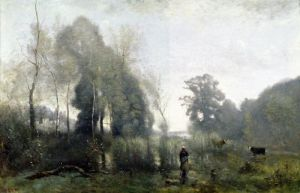 Morning at Ville-d'Arvray 1868 by Jean-Baptiste-Camille Corot