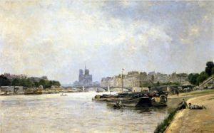The Seine from the Quai de la Rapee by Stanislas Victor Edouard Lepine