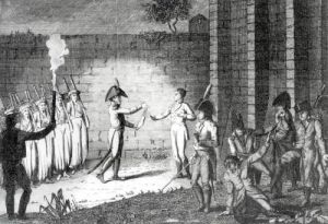 Execution of Louis Antoine Henri de Bourbon Duke of Enghien by French School