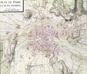 Map of Paris and its Surroundings from 'Oisivetes' by Sebastien Le Prestre de Vauban