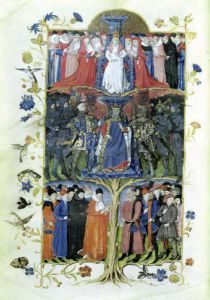 The Tree of Battles. King Charles VII Louis XI & Arthur of Brittany by Honore Bonnet