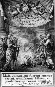 Frontispiece of 'Index Librorum Prohibitorum' by French School