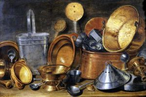 Still Life with Kitchen Utensils by Cornelis Jacobsz Delff