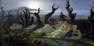 Les Lavandieres de la Nuit c.1861 by Jean Edouard Yan Dargent