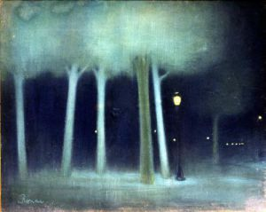 A Park at Night c.1892 by Jozsef Rippl-Ronai