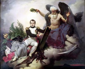 Napoleon Crowned by Time by Jean Baptiste Marie Mauzaisse