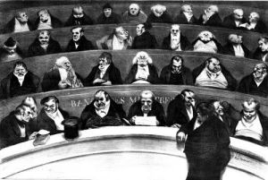 The Stomach of the Legislature the Ministerial Benches of 1834 by Honoré-Victorin Daumier
