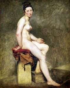 Seated Nude Mademoiselle Rose by Eugene Delacroix