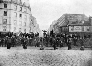 Barricade at the Faubourg Saint-Antoine during the Commune 1871 by French School