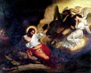 Christ in the Garden of Olives 1827 by Eugene Delacroix