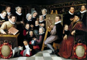 The Artist Painting Surrounded by his Family 1584 by Otto van Veen