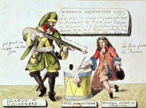 The Missionary Dragoon forcing a Huguenot to Sign his Conversion to Catholicism by Gottfried Engelmann