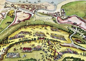 The Siege of Dieppe 1589 by Franz Hogenberg