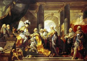 Louis XVI King of France Receiving the Homage of the Knights of the Order of St. Esprit at Reims by Gabriel Francois Doyen