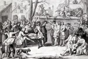 The Election of the Militia at the Parish of Authon 1688 by French School