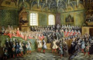 Bed of Justice Held in the Parliament at the Majority of Louis XV by Nicolas Lancret