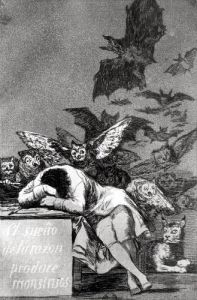The Sleep of Reason Produces Monsters from 'Los Caprichos' by Francisco de Goya