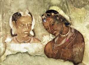 A Princess and her Servant by Indian School