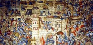 The Vengeance of Notre-Seigneur the Siege of Jerusalem by Flemish School
