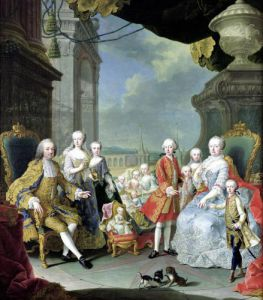 Francois III with his wife Marie-Therese and their children by Martin Meytens II
