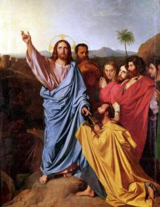 Jesus Returning the Keys to St. Peter 1820 by Jean-Auguste-Dominique Ingres