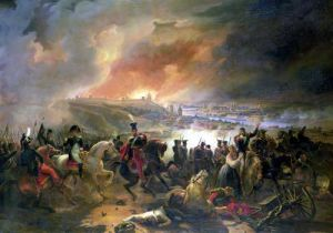 The Battle of Smolensk 1839 by Jean Charles Langlois