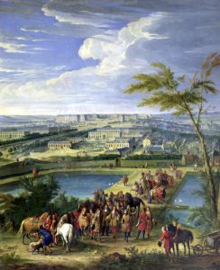 The Town and Chateau of Versailles from the Butte de Montboron 1688 by Jean-Baptiste Martin