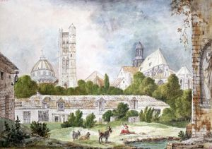 The New Church of Sainte-Genevieve and Saint-Etienne-du-Mont Seen by Duchateau