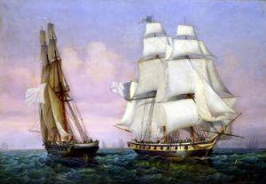 Return from Elba c.1852 by Ambroise-Louis Garneray