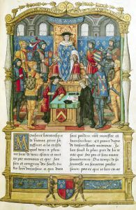 Presentation of the Memoirs to Louis XI by French School