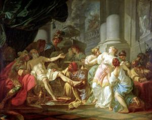 The Death of Seneca 1773 by Jacques-Louis David