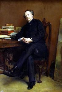 Alexander Dumas Fils 1877 by Jean-Louis Ernest Meissonier